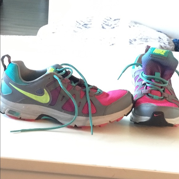 Rainbow colored Nike's in like new condition